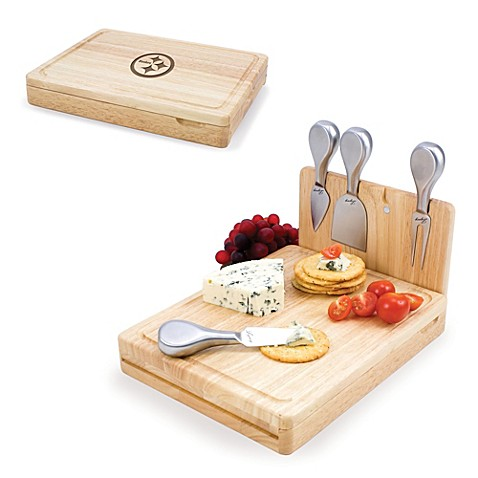 Picnic Time Asiago Folding Cheese Serving Set - Pittsburgh Steelers