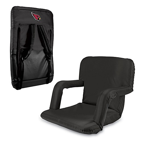 Picnic Time Portable Ventura Reclining Seat - Arizona Cardinals (Black)