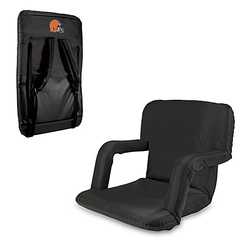 Picnic Time Portable Ventura Reclining Seat - Cleveland Browns (Black)