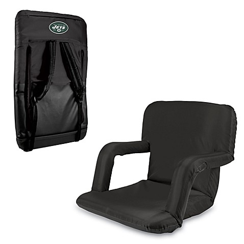 Picnic Time Portable Ventura Reclining Seat - New York Jets (Black)