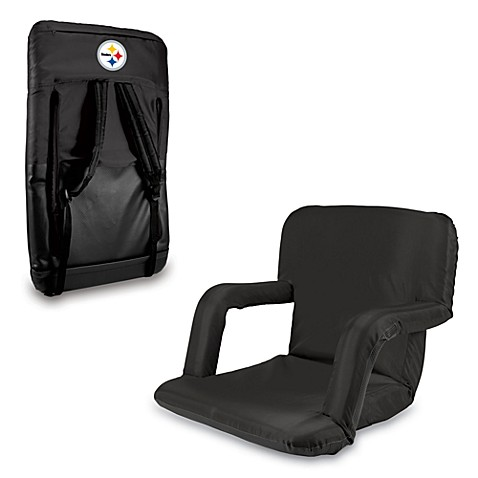 Picnic Time Portable Ventura Reclining Seat - Pittsburgh Steelers (Black)