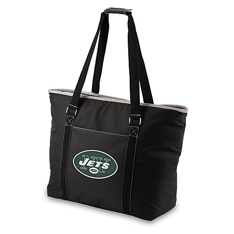 Picnic Time® Tahoe New York Jets Insulated Cooler Tote in Black