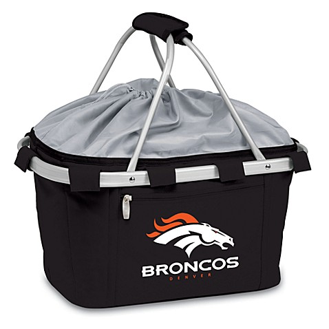 Picnic Time® Denver Broncos Metro Insulated Basket in Black