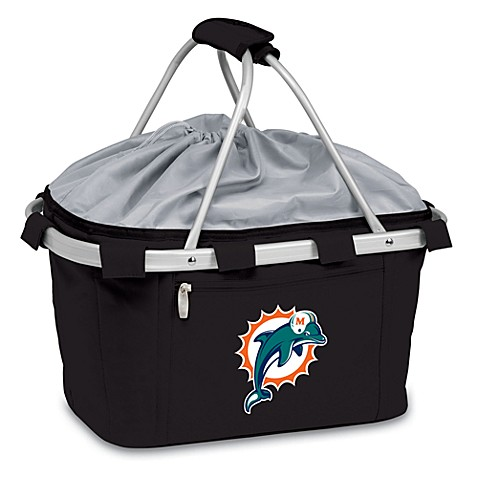 Picnic Time® Miami Dolphins Metro Insulated Basket in Black