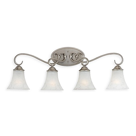 Buy Quoizel Duchess 4 Light Antique Nickel Bath Fixture W Grey Marble Glass From Bed Bath Beyond
