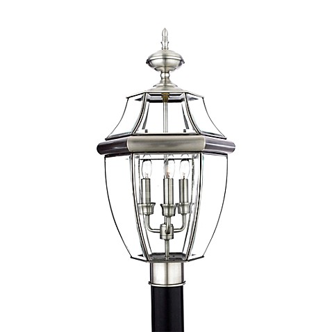 Quoizel®  Newbury Pewter Outdoor Post Light