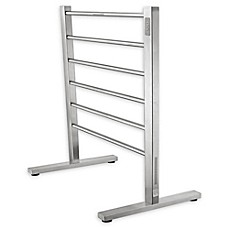 Anzzi Kiln 6 Bar Stainless Steel Free Standing Electric Towel Warmer Rack