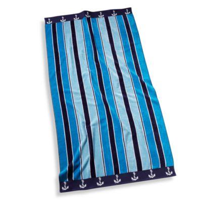 Ocean Stripe Oversized Beach Towel Bed Bath Beyond