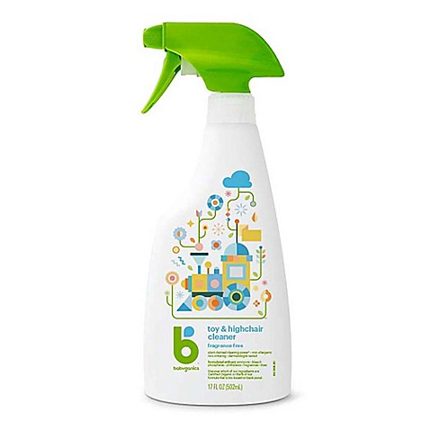 babyganics® 17 oz. fragrance-free toy & highchair cleaner - bed