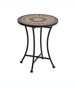 Mesa decorativa con mosaicos de piedra
