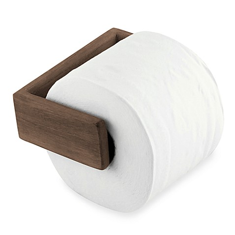 Waterbrands Seateak Wall Mount Toilet Paper Holder Bed