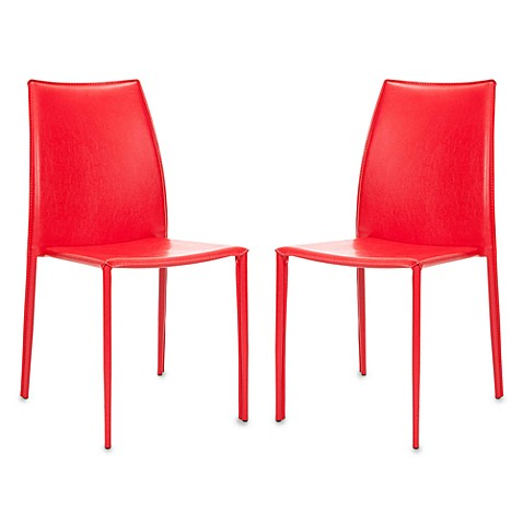 Safavieh Korbin Side Chairs in Red (Set of 2)