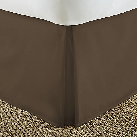 Home Collection Pleated California King Bed Skirt in Chocolate