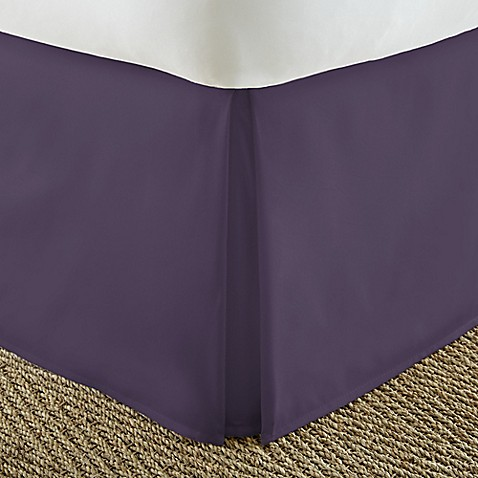 Home Collection Pleated Twin XL Bed Skirt in Purple