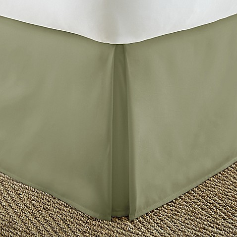 Home Collection Pleated Queen Bed Skirt in Sage