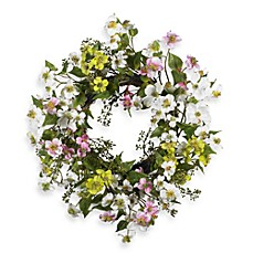image of Nearly Natural 20-Inch Dogwood Wreath