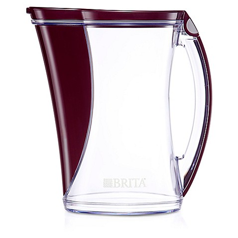 Brita 174 12 Cup Stream Cascade Pitcher In White Bed Bath