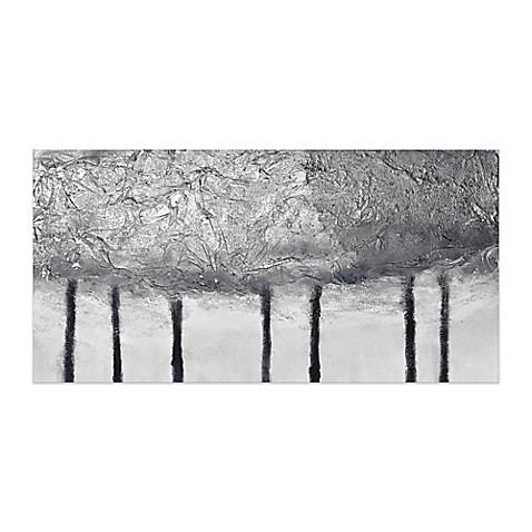 silver trees 60 inch x 30 inch canvas wall art bed bath beyond. Black Bedroom Furniture Sets. Home Design Ideas