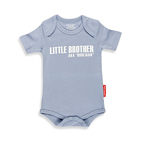 Silly Souls® Little Brother: AKA Hooligan Size 0-3 months Bodysuit in Blue