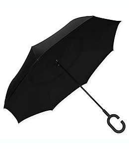 Paraguas de poliéster UnbelievaBrella™ ShedRain® invertido color negro