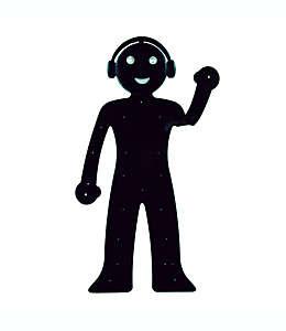 Soporte para teléfono con luz de lectura Bendyman Walter + Ray en negro
