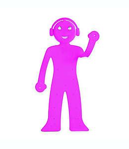 Soporte para teléfono con luz de lectura Bendyman Walter + Ray en rosa