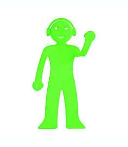 Soporte para teléfono con luz de lectura Bendyman Walter + Ray en verde
