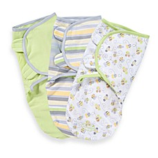 image of SwaddleMe® Small/Medium 3-Pack Adjustable Blankets in Bees