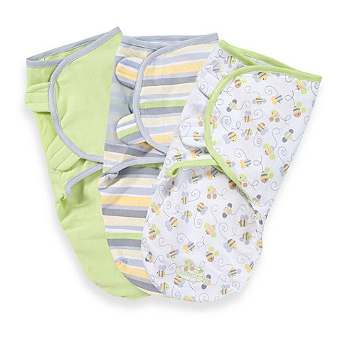 SwaddleMe® Small/Medium 3-Pack Adjustable Blankets in Bees