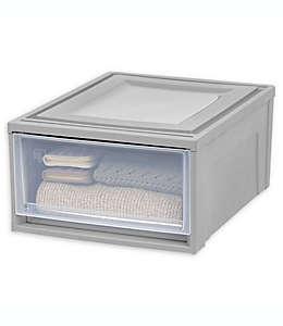 Cajón mediano IRIS® en gris/transparente