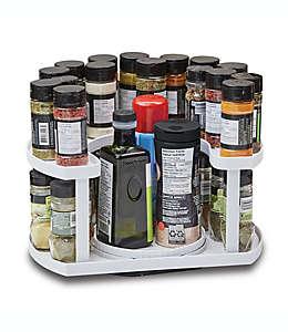 Organizador de 2 niveles para especias Spice Spinner™ Allstar blanco