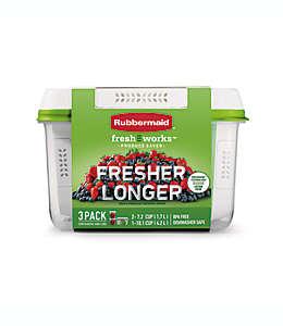 Set de 3 contenedores Rubbermaid® Freshworks™