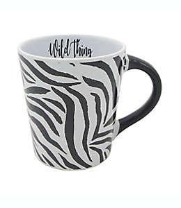 """Taza GiftCraft """"Wild Thing"""" con diseño de cebra en blanco/negro"""