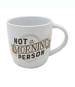 """Taza de cerámica GiftCraft con frase """"Not a morning person"""" color blanco"""