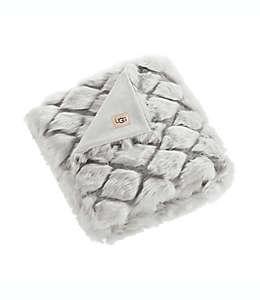 Frazada con pelaje sintético de acrílico UGG® Kaley color gris