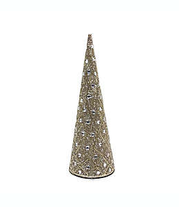 Árbol de Navidad bordado de 30.48 cm dorado