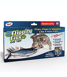 Juguete para gato Flippity Fish color gris