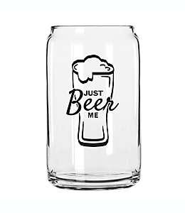"""Vaso de vidrio para cerveza """"Just Beer Me"""""""