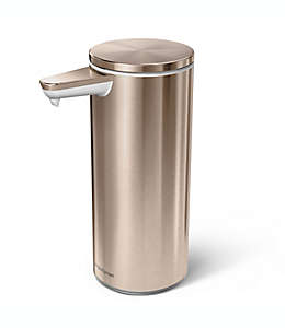 Dispensador de jabón de metal simplehuman® con sensor color oro rosa