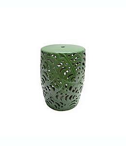 Banco de cerámica W Home con diseño de palmera