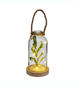 Botella con planta artificial Elements de 25.29 cm