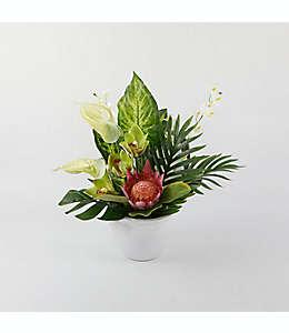 Arreglo floral de cerámica W Home® con maceta