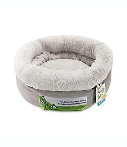 Cama redonda para mascotas Sleepy Pet en gris adoquín