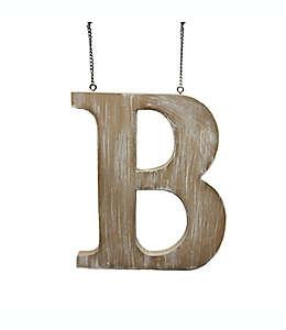 "Colgante de madera para puerta Bee & Willow™ Home de letra ""B"""