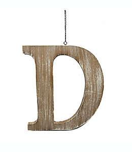 """Colgante de madera para puerta Bee & Willow™ Home de letra """"D"""""""