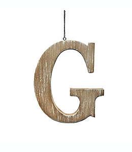 """Colgante de madera para puerta Bee & Willow™ Home de letra """"G"""""""