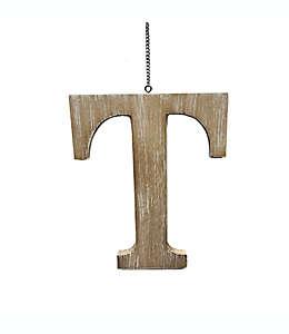 "Colgante de madera para puerta Bee & Willow™ Home de letra ""T"""