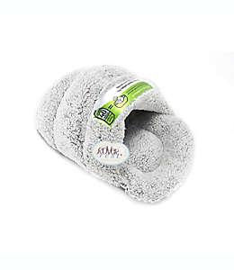 Cama para mascotas en forma de pantufla en gris plata