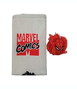 Set de toalla de medio baño y esponja Marvel®, 2 piezas