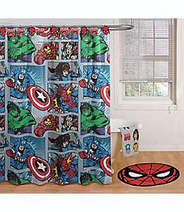 Set de ganchos y cortina de baño de microfibra Marvel® Comic